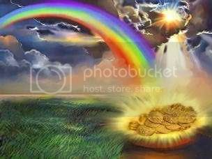 Pot of Gold at the end of the Rainbow! Pictures, Images and Photos